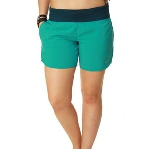 Nike Dri-Fit teal built in brief running shorts
